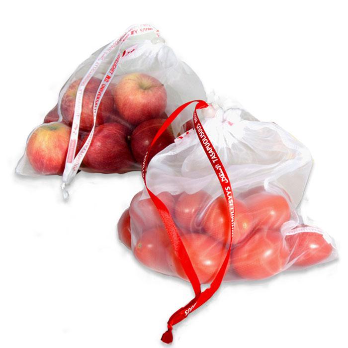 Settiin kuuluu 3 kpl kestohedelmäpusseja