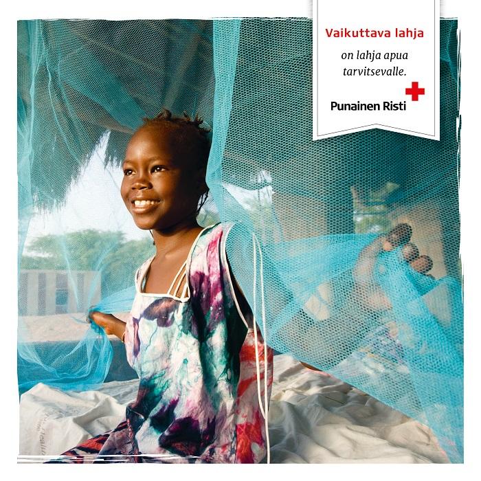 Malariasuoja perheelle, painettu kortti