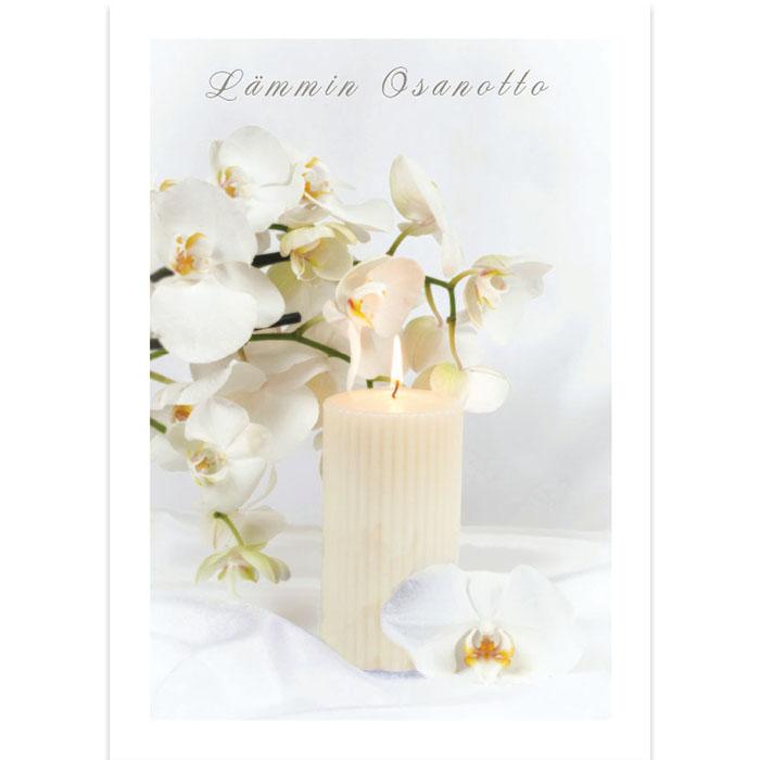 Osanottoadressi Valkoinen kynttilä
