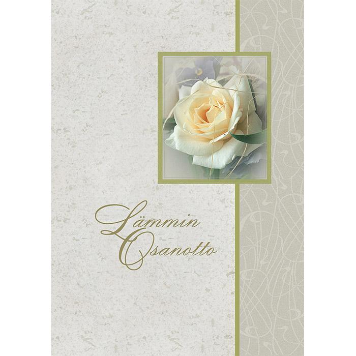 Osanottoadressi Valkoinen ruusu