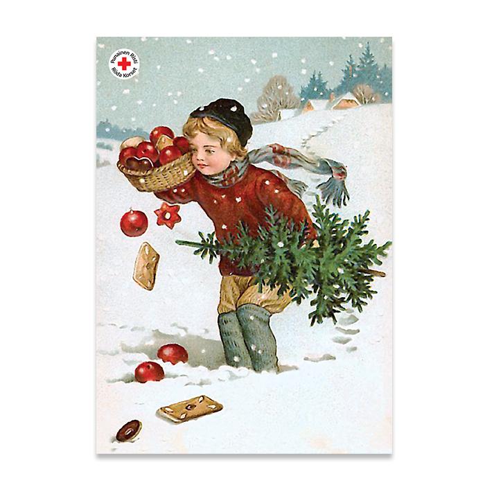 SPR joulukortti. Postimerkki kaikkiin maihin.