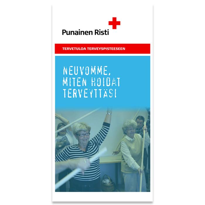 Terveyspisteen roll-up ruotsinkielinen