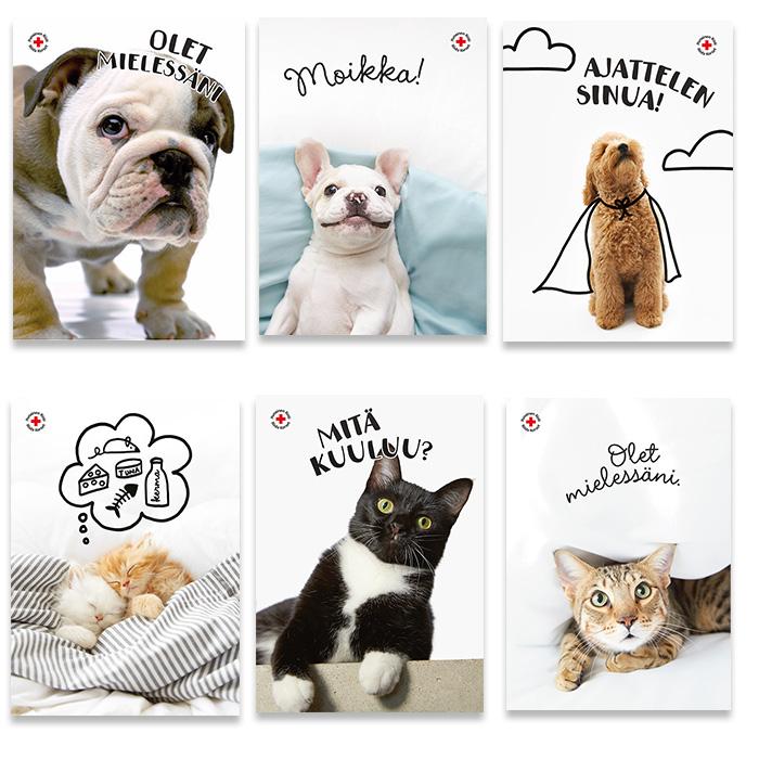 Tänker på dig -postkortförpackning 4 FINSK