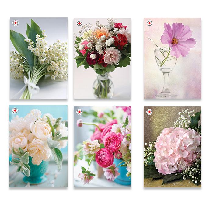 Blommor postkortförpackning