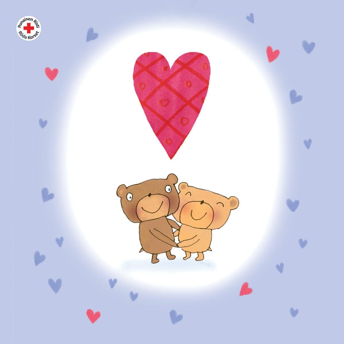 Nallebjörnar med tassar ihop, 1 €/st