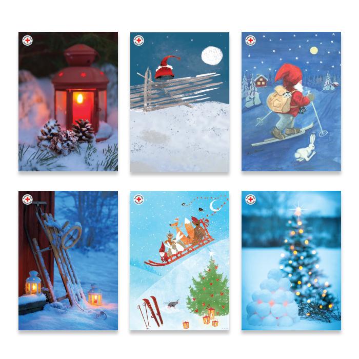 Julpostkortförpackning utan porto och text