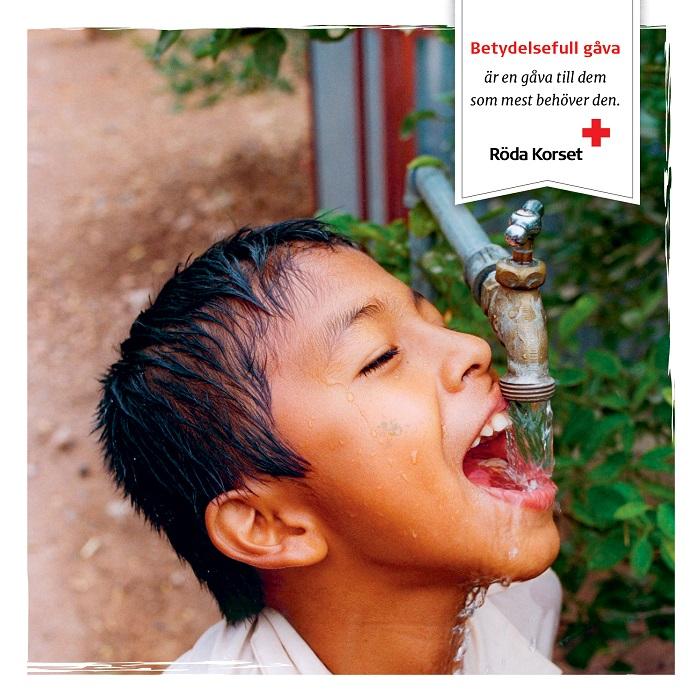 Rent vatten för ett barn, tryckt kort