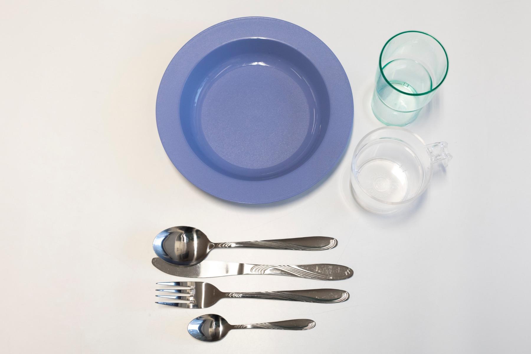 Mat serveringsset för en person