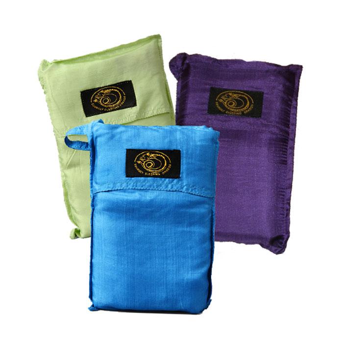 Soundly sleeping dragon -silkkimakuupussit kauniissa väreissä!