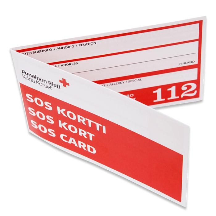 SOS-kort, SOS-kortti, SOS-card