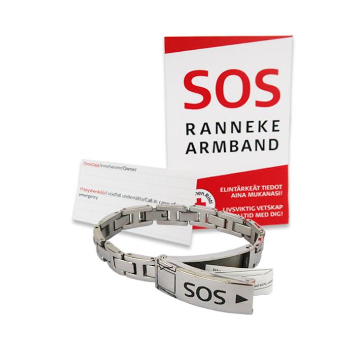 SOS-armband, storlek 17,5 cm