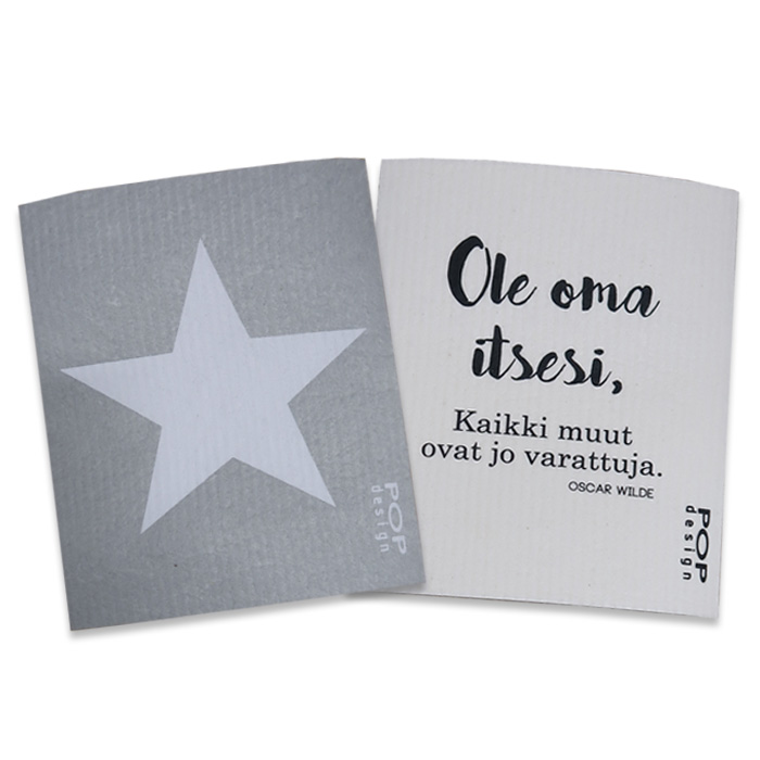 Förpackning med disktrasor Stjärna & aforism