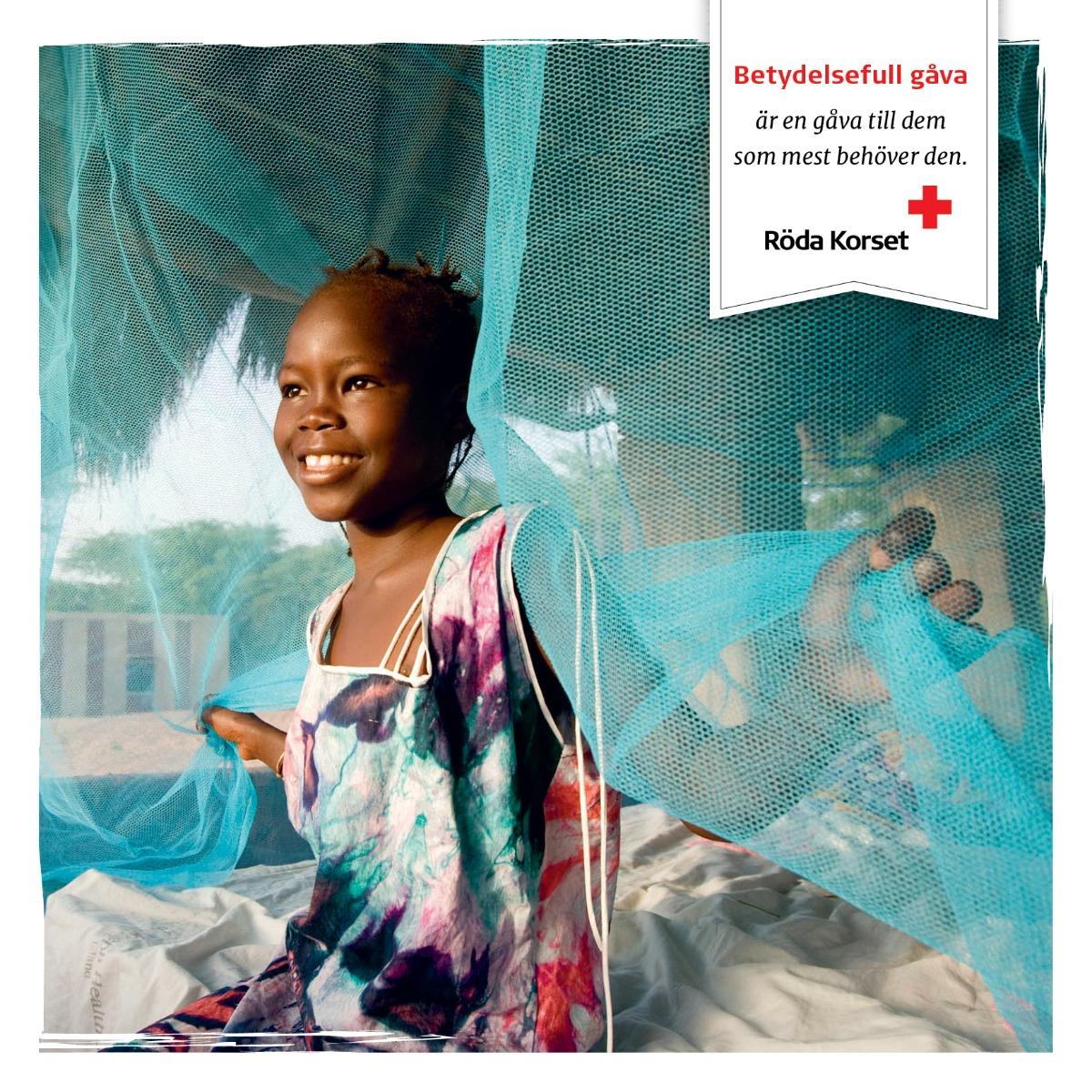 Malariaskydd till en familj, 15 €/st