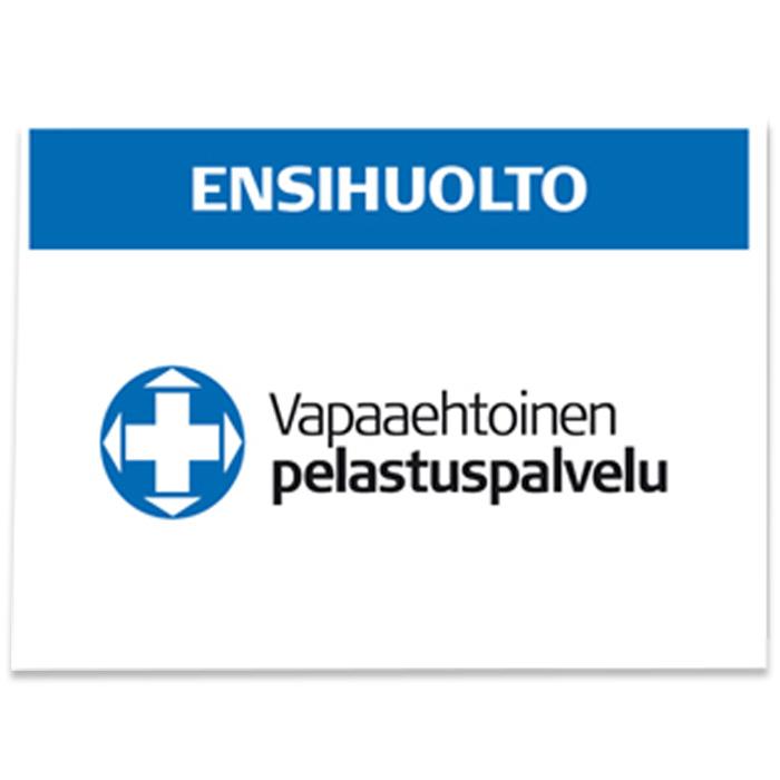 Vapepa-ryggmärke ENSIHUOLTO